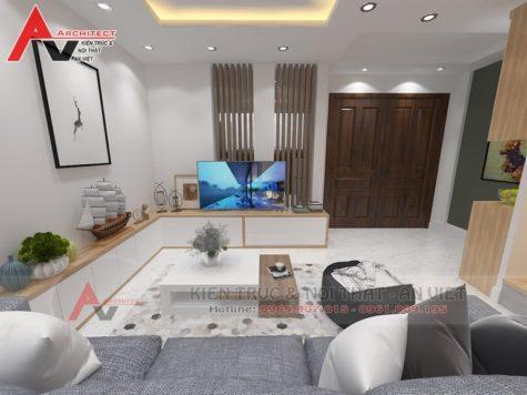 Thiết kế nội thất nhà lô 4 tầng 100m2 Anh Trinh – Hải Dương