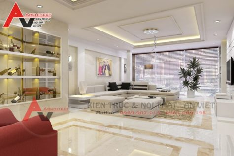 Ấn tượng thiết kế nội thất nhà phố 80m2 Chú Bảo- Hà Nội