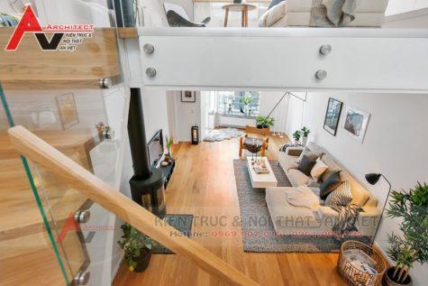 Thiết kế nội thất nhà phố 65m/sàn Anh Dũng-Hà Nội