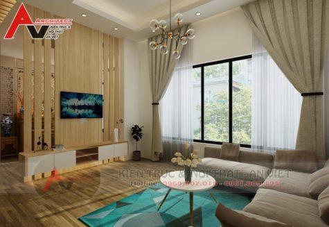 Thiết kế nội thất nhà lô hiện đại Anh Quân tại Hà Nội