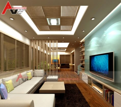 Phong cách thiết kế nội thất biệt thự hiện đại Anh Du- Linh Đàm