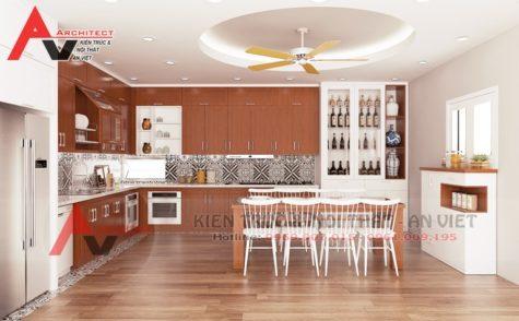 Thiết kế nội thất phòng bếp 15m2 Chị Hương-Sơn La