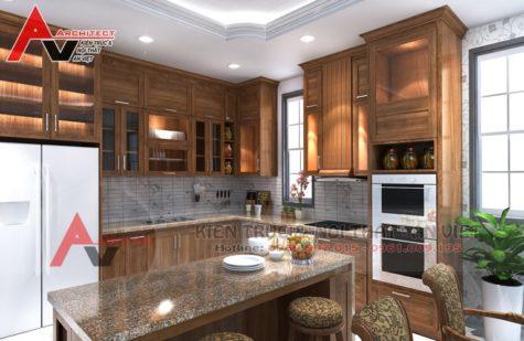 Thiết kế phòng bếp biệt thự Chú Tuấn-Hà Nội