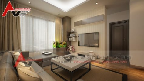 Thiết kế phòng khách chung cư Anh Tưởng-Hà Nội