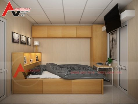 Thiết kế nội thất phòng ngủ Chị Hiền-Hà Nội