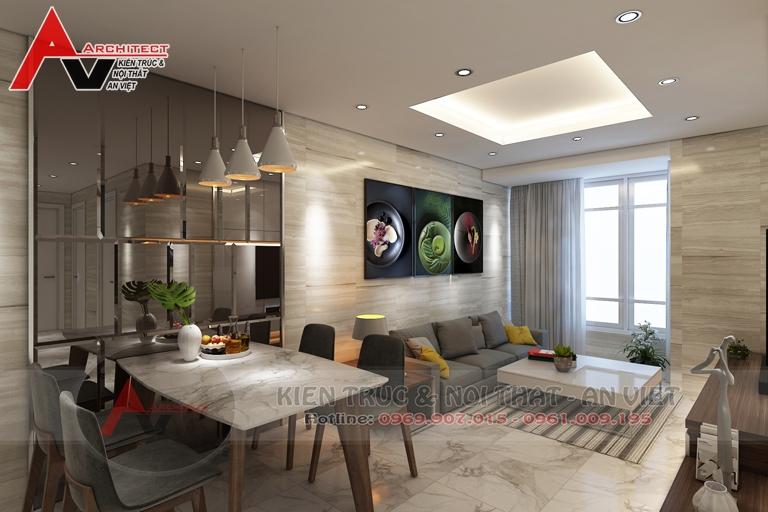 Thiết kế chung cư diện tích 80m2 có 2 phòng ngủ - Anh Vũ