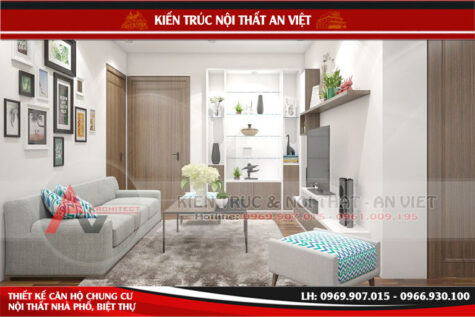 Thiết kế nội thất căn hộ chung cư 80m2 chị Quỳnh Long Biên