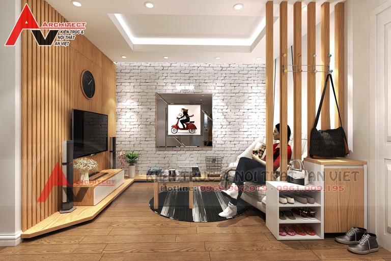 Mẫu thiết kế chung cư 50m2 hiện đại - chị Huyền - Linh Đàm