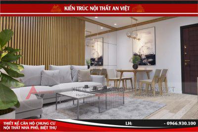 Thiết kế căn hộ chung cư New Skyline 97m2 hiện đại Chị Mai