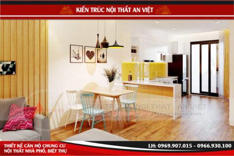 Mẫu căn hộ chung cư Intracom Riverside 71m2 chị Phượng
