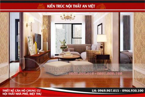 Thiết kế nội thất chung cư 3 phòng ngủ 120m Anh Đức Hà Nội