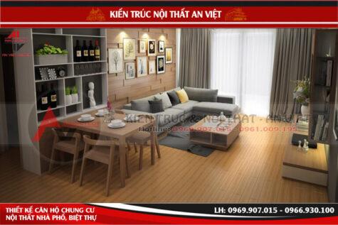 Thiết kế cải tạo chung cư New Skyline 98m2 2PN – Chị Quỳnh