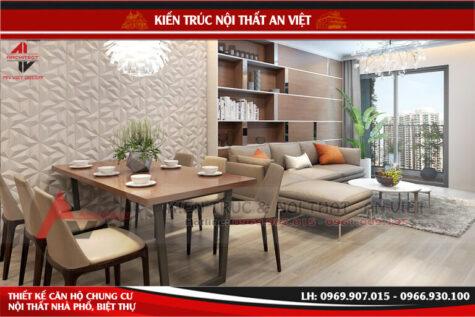 Thiết kế nội thất chung cư Timescity Park11 130m2 3PN – Chị Tuyết