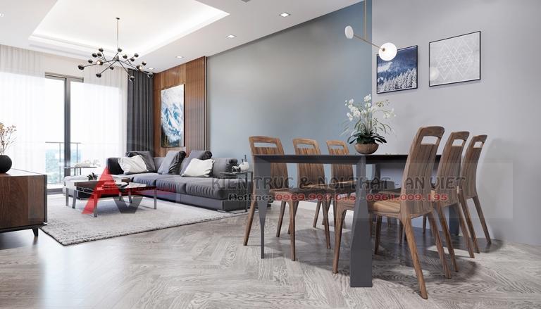 Mẫu thiết kế căn hộ chung cư Greenpearl 3 phòng ngủ 110m2 4
