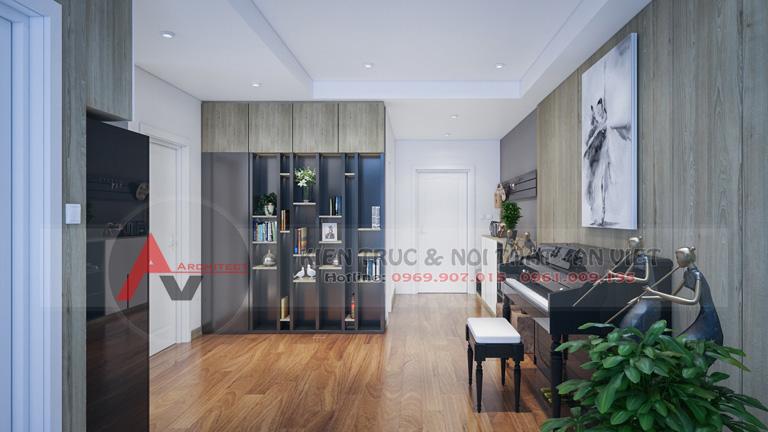 Thiết kế nội thất căn hộ chung cư Ecolife 100m2 3 phòng ngủ